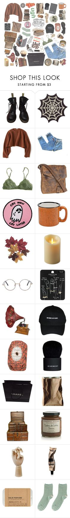 """""""i'll search the world until there's no place left to go and if she leaves it, i will follow"""" by nemophxlist ❤ liked on Polyvore featuring Dr. Martens, Uniqlo, Bed Stü, Luminara, Topshop, CO, Fresh, Givenchy, Chanel and Rosenthal"""