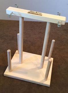 Fiber Artist Supply Co., 4 Spool Maple Weavers' Yarn Cone Holder with Hardware