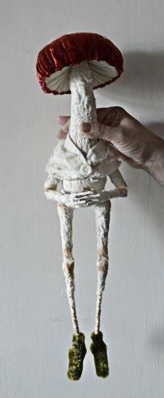 Friendly fungal fellow featuring fine furry feet for fairy folk followers for fall.http://www.mister-finch.com/