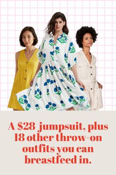 19 of the best breastfeeding dresses and nursing dresses that are stylish and practical from Kmart, Target, THE ICONIC, ASOS, Cotton On, Seed and more. #jumpsuits #dresses #maternity #maternityfashion
