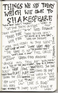 Common phrases that originated with Shakespeare.