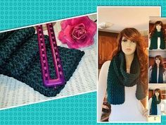 How to Loom Knit a Scarf - Stockinette Stitch (DIY Tutorial) - YouTube