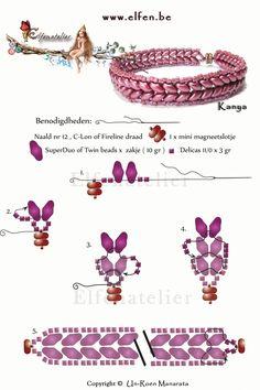 Armband met superduo en delicas. www.elfen.be