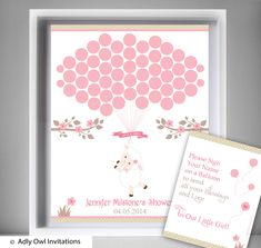 Girl Lamb Guest Book Printable Alternative and Girl Lamb Wall Art for Baby Lamb  Shower DIY Pink Sheep - ONLY digital file - oz30bs27 by aoprintablesforkids on Etsy