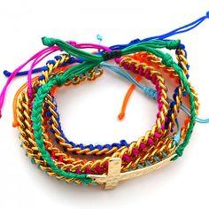 Pulsera Cadenas Multicolor Cruz Martillada | Dulce Encanto accesorios para…