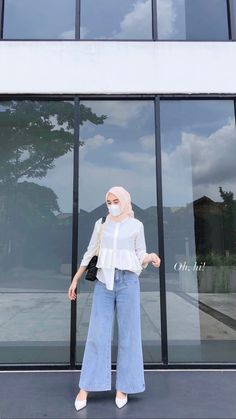 Casual Hijab Outfit, Ootd Hijab, Hijab Chic, Casual Outfits, Fashion Outfits, Hijab Style Tutorial, Skirt And Sneakers, Hijab Fashion Inspiration, Formal Looks