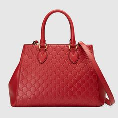 GUCCI Soft Gucci Signature top handle bag. #gucci #bags #leather #hand bags #