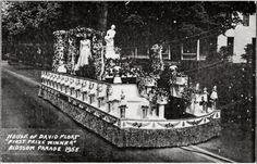 """House of David float, """"First Prize Winner"""", Blossom Parade 1955 House Of David, Benton Harbor, First Prize, South Bend, Good Times, Indiana, Michigan, Digital"""
