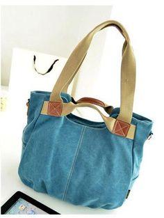 Blue 2016 Ladies Fashion Casual Canvas Messenger Bag. Handbag or Shoulder.