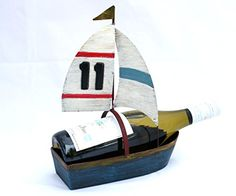 Wine Racks - Sail Boat Wine Bottle Holder  Novelty Wine Rack Gift By Thirteen ChefsTM ** Check out the image by visiting the link.