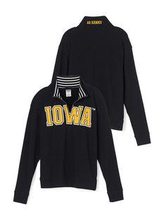 University of Iowa Boyfriend Half-Zip - PINK - Victoria's Secret