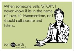 yes, and i say the word stop a lot during my day. I often sing these songs in my head, sometimes out loud.