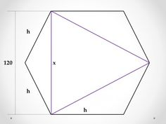 Equilateral Triangle Inscribed in a Hexagon Plane Geometry, Problem Solving, Triangle