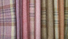 Examples of subtle, blended plaids: Heather Woolsmain 500x288 Abraham Moon: Plaid Textiles