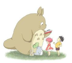 Encounter of the different world. TOTORO, Sosuke and Ponyo