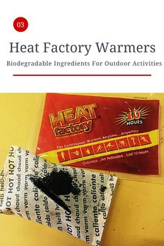 The ingredients in our warmers are biodegradable. Perfect for any outdoor activity! #warmoutdoors #heatfactoryusa