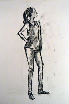 Dibujo del natural. Diferentes poses de figura. Nagore Mateo. 2012