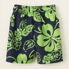 baby boy - swimwear - hibiscus swim trunks | Childrens Clothing | Kids Clothes | The Childrens Place