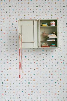 Knopen behang | Producten | Studio ditte Button Wallpaper