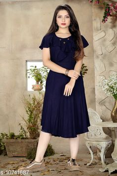 Checkout this latest Dresses Product Name: *Stylish Rayon dresses for Women & Girls* Fabric: Rayon Sleeve Length: Short Sleeves Pattern: Solid Multipack: 1 Sizes: S, M (Bust Size: 38 in, Length Size: 40 in)  L, XL, XXL Country of Origin: India Easy Returns Available In Case Of Any Issue   Catalog Rating: ★4.2 (1501)  Catalog Name: Stylish Sensational Women Dresses CatalogID_1975136 C79-SC1025 Code: 593-10741687-9201