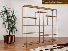 Paul McCobb Style Mid Century Modern Shelving Unit