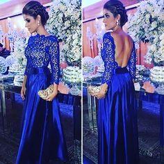 9b30e9a7ca 8 melhores imagens de vestido azul Royal longo