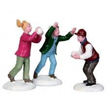 Lemax - Snowball Fight!, Set Of 3 FW 4.79