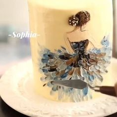 Beautiful Birthday Cakes, Beautiful Cakes, Fox Cake, Buttercream Flower Cake, Knife Painting, Cake Painting, Cakes For Women, Mermaid Cakes, Crazy Cakes