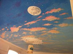 day/night Sky Ceiling Painting