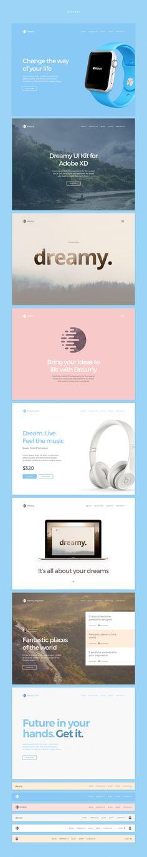 Dreamy UI Kit for Adobe XD on