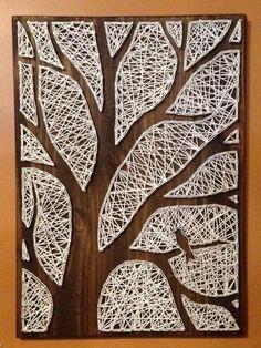 Bildergebnis für plantillas string art - DIY and crafts - Arte Contemporáneo Dyi Crafts, Wire Crafts, Arts And Crafts, String Wall Art, Diy Wall Art, String Art Patterns, Artwork For Home, Modern Art Paintings, Wire Art
