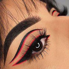 Gorgeous Makeup: Tips and Tricks With Eye Makeup and Eyeshadow – Makeup Design Ideas Edgy Makeup, Makeup Eye Looks, Eye Makeup Art, Crazy Makeup, Cute Makeup, Gorgeous Makeup, Eyeshadow Makeup, Makeup Inspo, Makeup Inspiration