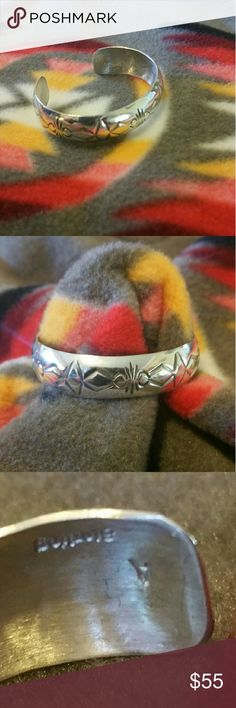 Sterling Silver Baby Bracelet From the heart of Indian Country Hand Made Sterling Silver Baby Bracelet a must have.  Hand made by native artisans  Will fit 3 to 9 months old babies  or sml child 1 to 2 years old Jewelry Bracelets