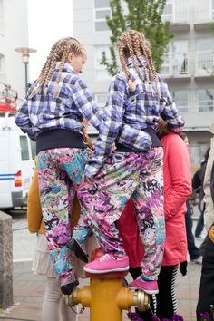 Twins in Reykjavík.