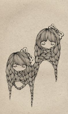 a little weird, but I like this way of doing hair