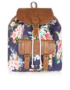 Postcard Floral Backpack