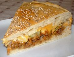 Cheeseburger cake - the original - kuchen - Food Snacks Pizza, Snacks Für Party, Appetizers For Party, Healthy Burger Recipes, Chef Recipes, Cheeseburger Cake, Easy Homemade Burgers, Food Tags, Party Finger Foods