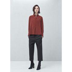 Premium - blouse soie bouton MANGO