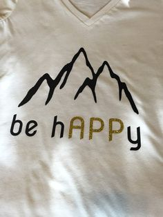 be hAPPy V-neck T-shirt // Appalachian State by SouthernStockCo