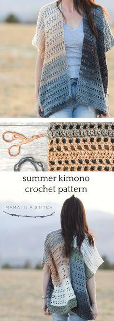 ee07e10d8 Barcelona Summer Crocheted Kimono Cardigan Pattern