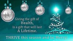 ❄️Give the gift of health I know many who are!!! We have 4 day trial packs if interested!!!  260-570-8751