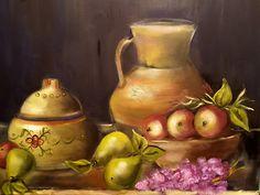 Bodegón con peras oleo/lienzo  65x81