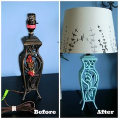 $2 Goodwill Lamp Makeover | Endlessly Inspired