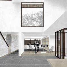 Interior impression. House for an Extended Family. Art of the Plan.