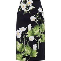 Oasis Dove House Pencil Skirt ($65) ❤ liked on Polyvore featuring skirts, women, patterned pencil skirt, petal skirt, floral print skirt, mint skirt and floral pencil skirt