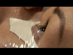Stop watery eyes during eyelash extension application - Salon Secrets - YouTube