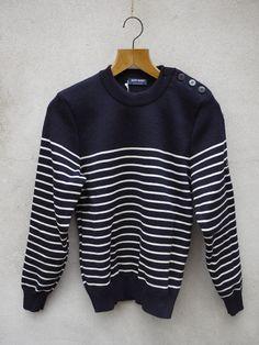 Breton Sailors Jumper - Binic ii by Saint James Wool - Navy & Cream Stripe Saint James, Jumper, Menswear, Pullover, Navy, Sweatshirts, Classic, Sweaters, Clothes
