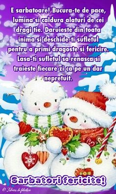 E sărbătoare! Bucură-te de pace, lumină şi caldură alături de cei dragi ţie. Dăruieşte din toată inima şi deschide-ţi sufletul pentru a primi dragoste şi fericire. Lasă-ţi sufletul să renască şi trăieşte fiecare zi ca pe un dar nepreţuit. Happy Morning, Design Case, Happy Birthday, Christmas Ornaments, Holiday Decor, Cards, Inspiration, Desktop, Bra