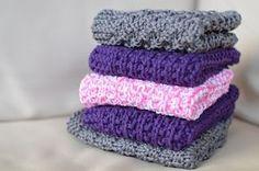 Enkle ting av Terese : Klutestrikk - Oppskrifter Washing Clothes, Pot Holders, Knit Crochet, Cross Stitch, Knitting, Pattern, Handmade, Dishcloth, Cloths
