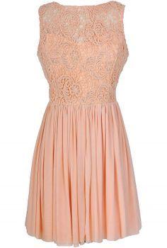 explore peach lace dresses
